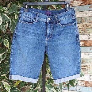 NYDJ Med Blue Bermuda Shorts Sz 8P